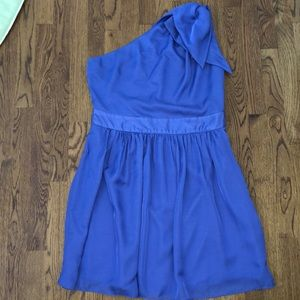Beautiful Purple One Shoulder Dress size 12 NWT